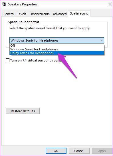 تنظیمات صدا در ویندوز 10