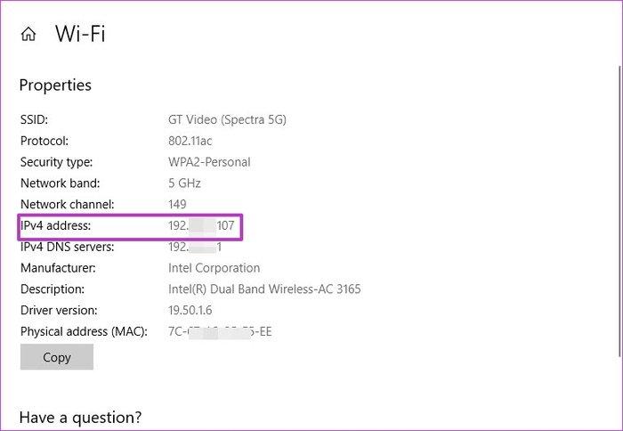 پیدا کردن MAC, IP, and DNS