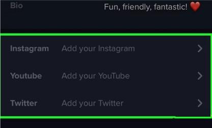 اضافه کردن حساب کاربری توئیتر و اینستاگرام