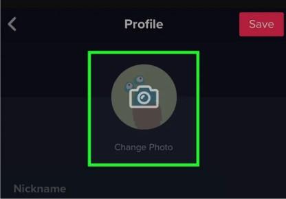 تغییر عکس پروفایل کاربری در تیک توک