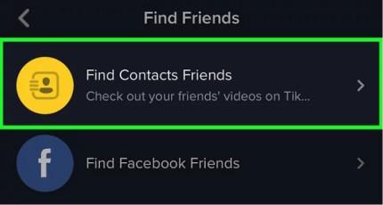 پیدا کردن دوستان در تیک تاک