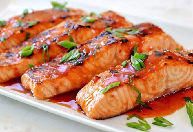 ماهی سالمون غذای موی سر