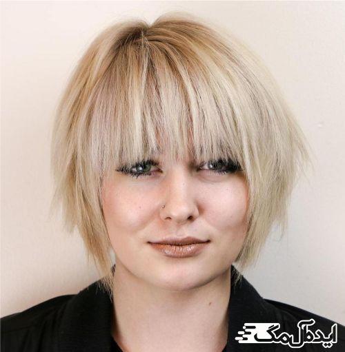 مدل موی کوتاه با خط مستقیم