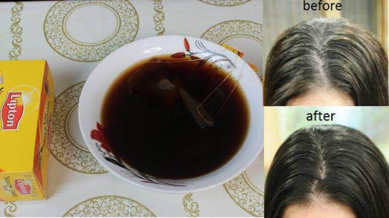 روشهای پوشاندن موهای سفید با چای سیاه