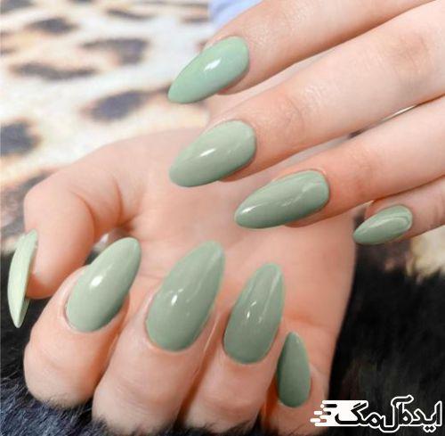رنگ سبز میتواند زیبایی بینظیری به ژلیش ناخن شما بدهد