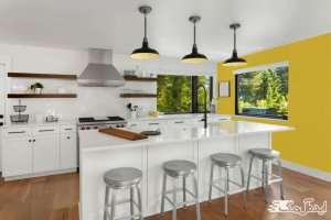 کابینت با ترکیب دو رنگ