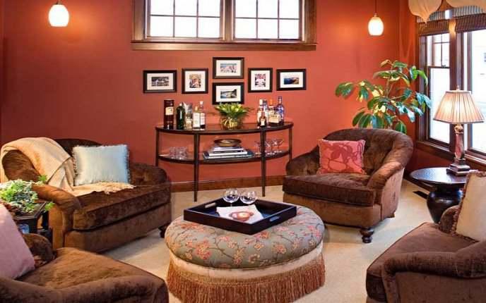دکوراسیون داخلی منزل با رنگهای گرم