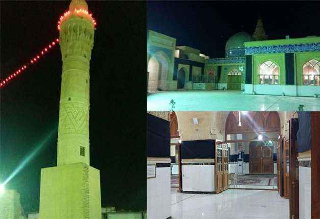 مسجد نخیله و مقبره ذوالکفل در مسیر پیاده روی اربعین