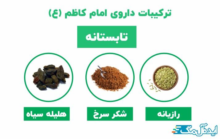 ترکیبات داروی امام کاظم تابستانه