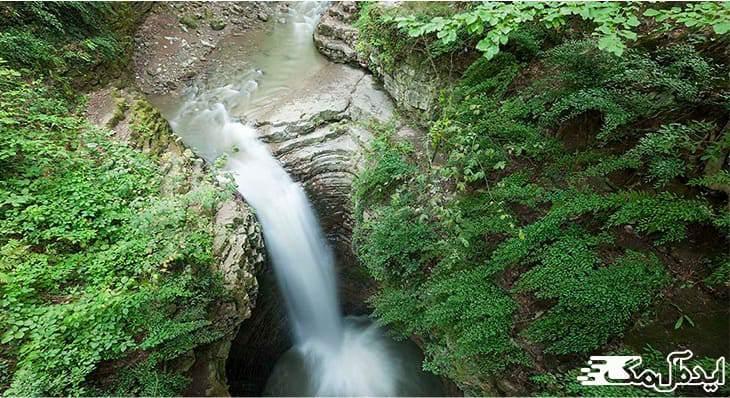 آبشار ویسادار | جاذبه های رضوانشهر