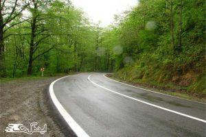 جاده کلاردشت به عباس آباد