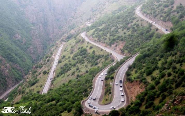 مسیر رسیدن به مرزن آباد
