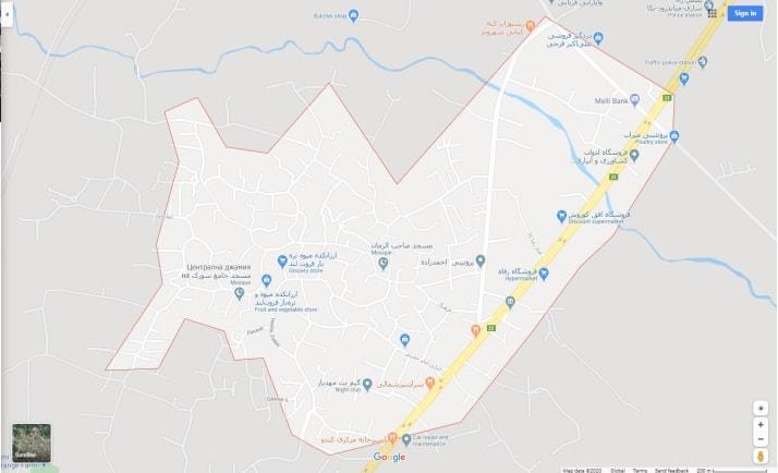 نقشه شهر سورک