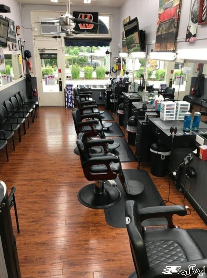 طارحی دکور آرایشگاه مردانه