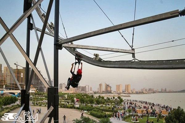 فعالیت های تفریحی در دریاچه شهدای خلیج فارس