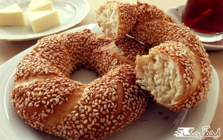 نان سیمیت از غذاهای محلی ترکیه