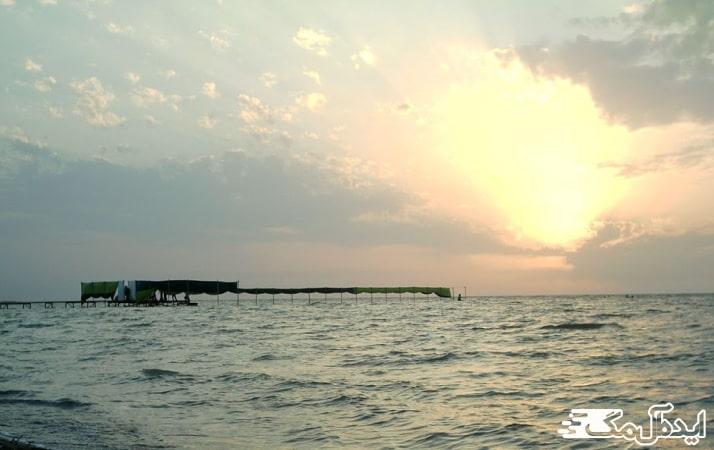 ساحل نوکنده در بندر گز