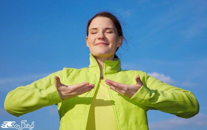 تمرینات تنفسی برای کاهش تنگی نفس