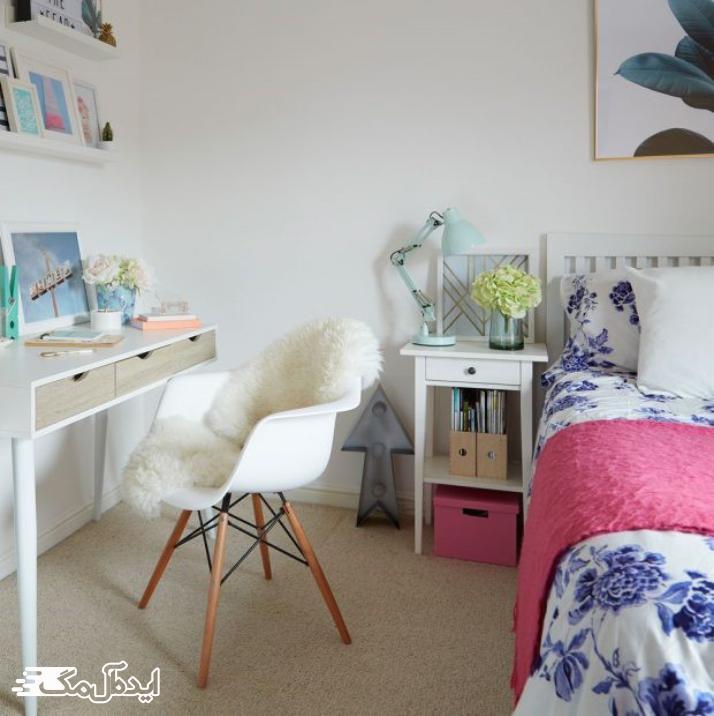 اتاق خواب دخترانه ساده