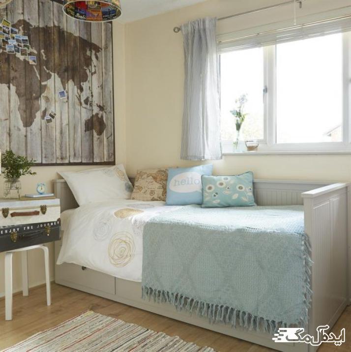 تزئین اتاق خواب با نقشه سفر