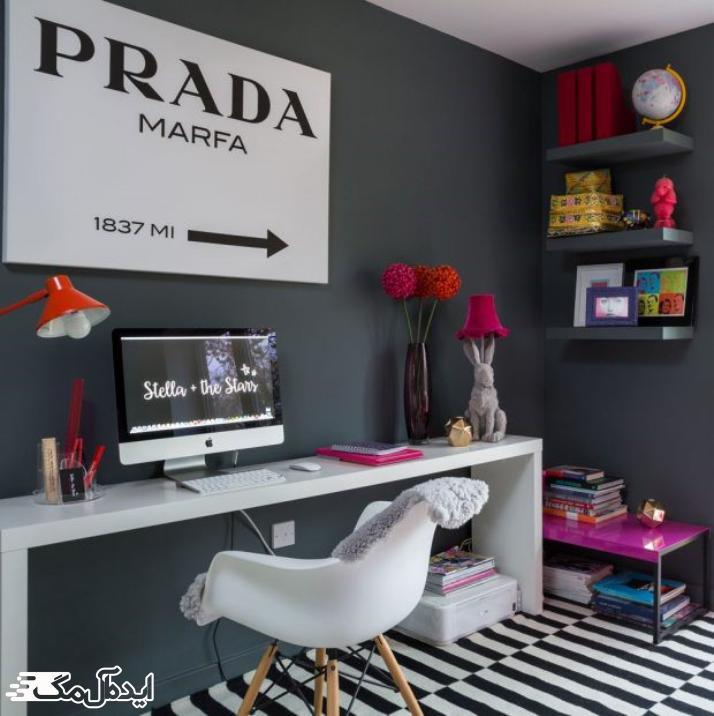 دیزاین شیک و تک رنگ برای اتاق خواب دخترانه