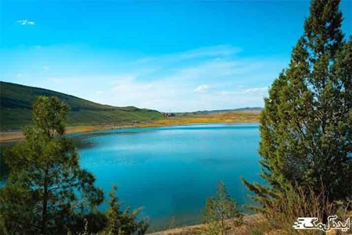 دریاچه بزنگان در شهرستان سرخس