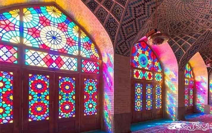 مسجد نصیرالملک شیراز، از جاذبههای گردشگری ایران