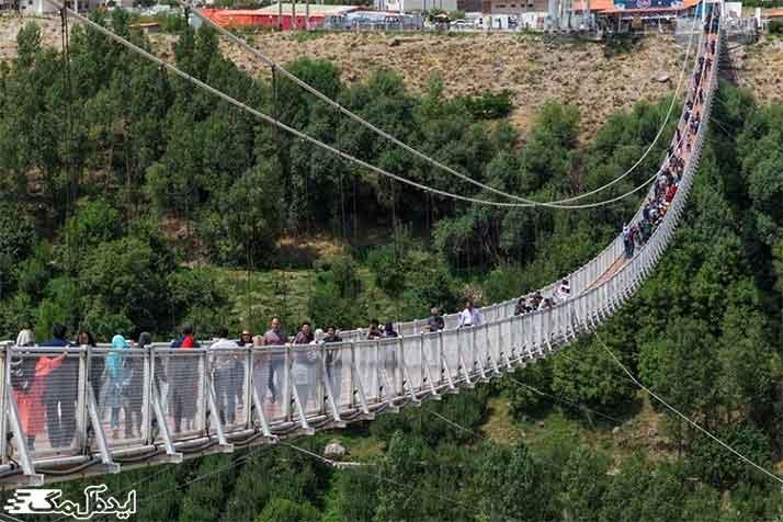 پل معلق آسمان از مکانهای دیدنی تهران