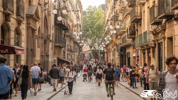 محله باری گوتیک در بارسلونا
