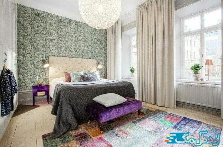 تاثیر رنگ بر روی دیزاین اتاق خواب