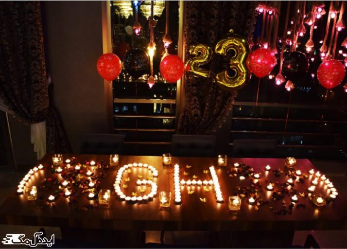 شمع آرایی برای تزئین اتاق تولد