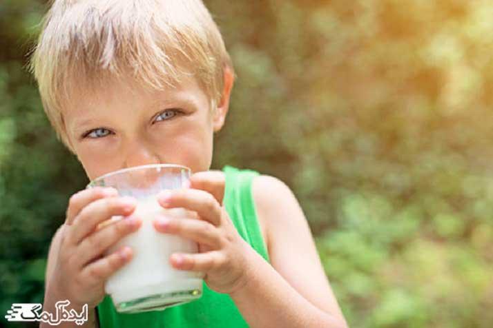 مصرف روزانه شیر برای کودکان