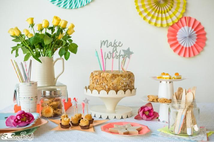 تزئین میز تولد