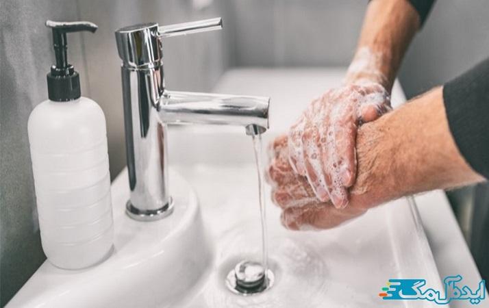 دستان خود را اغلب به مدت حداقل 20 ثانیه با صابون و آب بشویید.