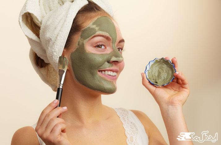 ماسک خاک رس برای مراقبت و نگهداری از پوست چرب