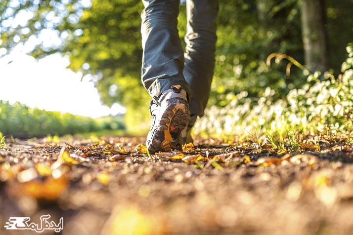 لاغر شدن با پیاده روی