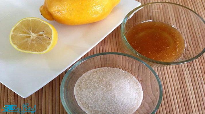 آب لیموی تازه با شکر و عسل