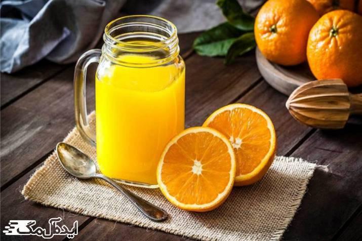 تاثیر آب پرتقال بر روی کاهش درد زخم های دهان