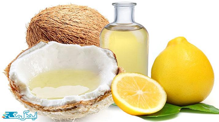 روغن نارگیل و آب لیمو