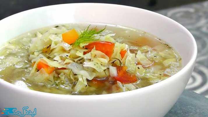 کاهش وزن با سوپ کلم