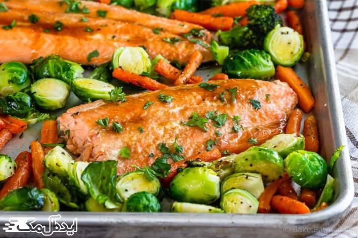 ماهی قزل آلا با سبزیجات میتواند در کاهش وزن شما مفید باشد