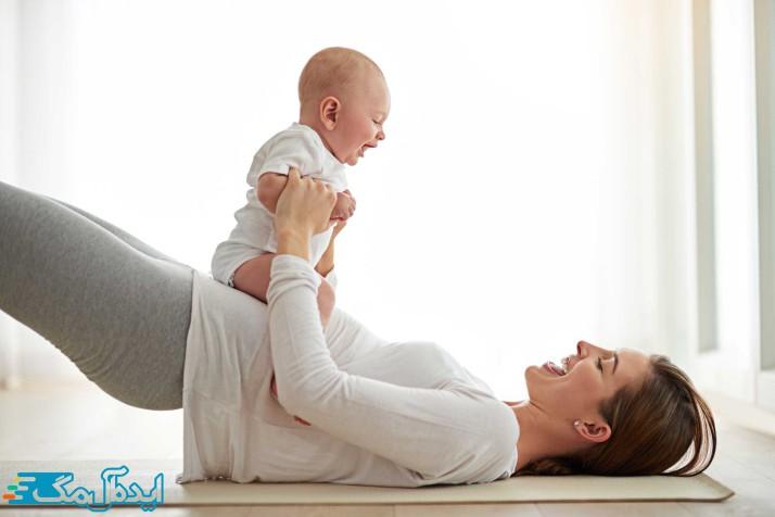 با نوزاد خود ورزش کنید تا وزنتان کم شود