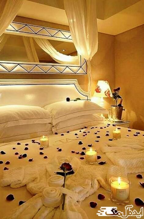 یک ایده جذاب برای دکوراسیون اتاق خواب عروس