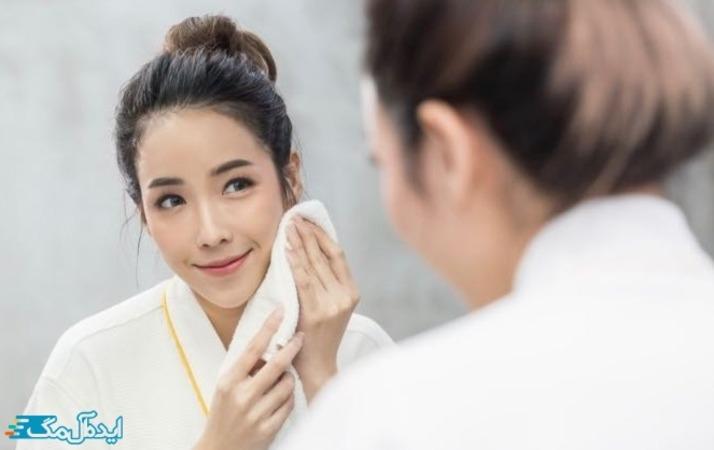 شستن صورت بعد از استفاده از ماسک آووکادو