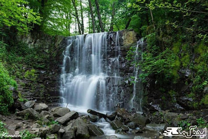 عکس آبشار لونک سیاهکل