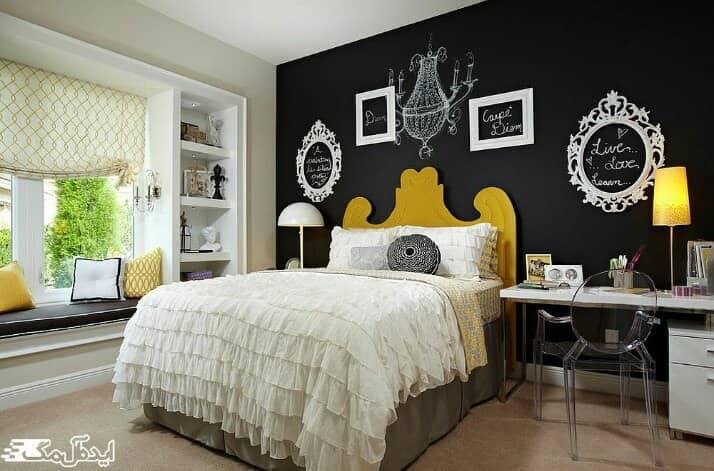 دیوار لهجه و تاثیر آن بر روی زیبایی اتاق خواب