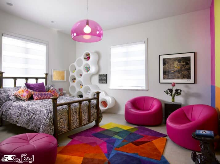 رنگ ها در اتاق خواب کوچک