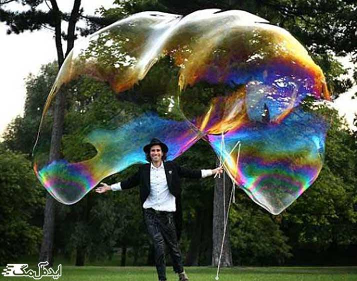 رکورد بزرگترین حباب صابونی در کتاب گینس