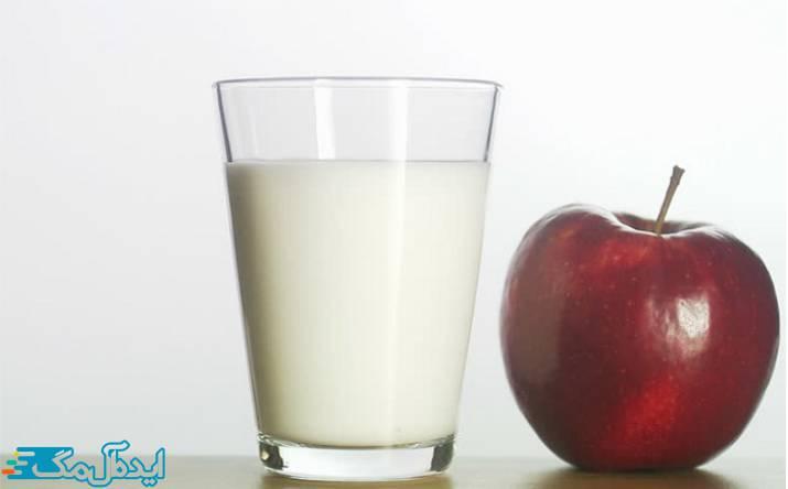 ماسک سیب و شیر