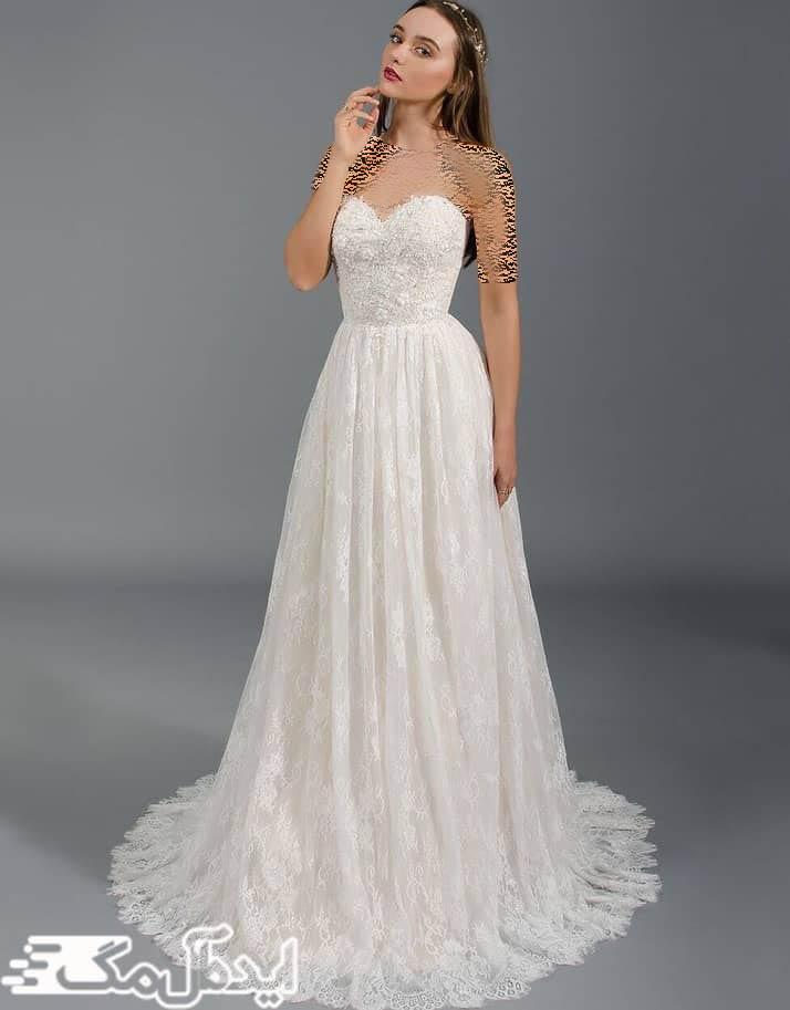 مدل لباس عروس دکلته مناسب برای فصل گرما